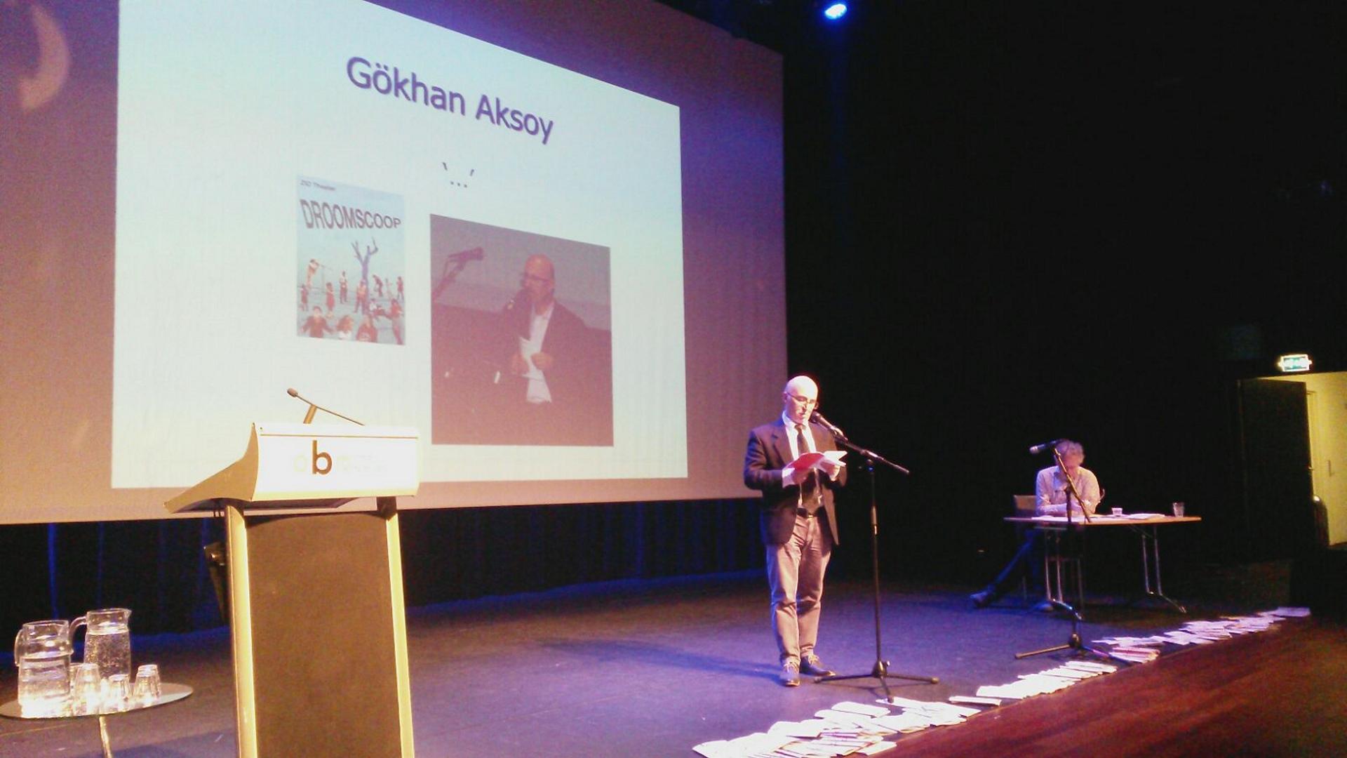 Gokhan Aksoy, huisdichter van het Huis der Letteren